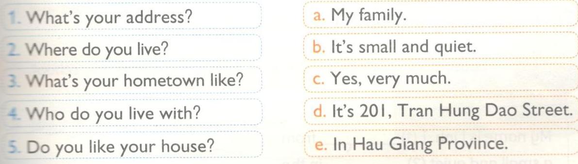 C. Classes - Unit 5 trang 64 sách bài tập (SBT) Tiếng Anh 6