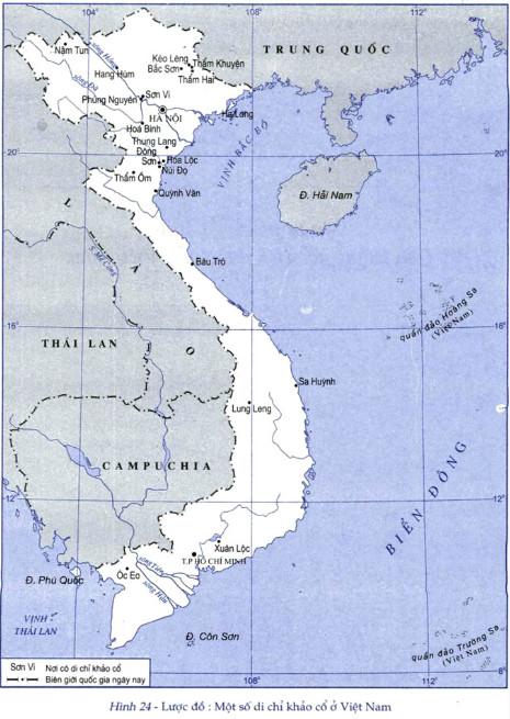 Nhìn trên lược đồ ở trang 26, em có nhận xét gì về địa điểm sinh sống của Người tối cổ trên đất nước ta?